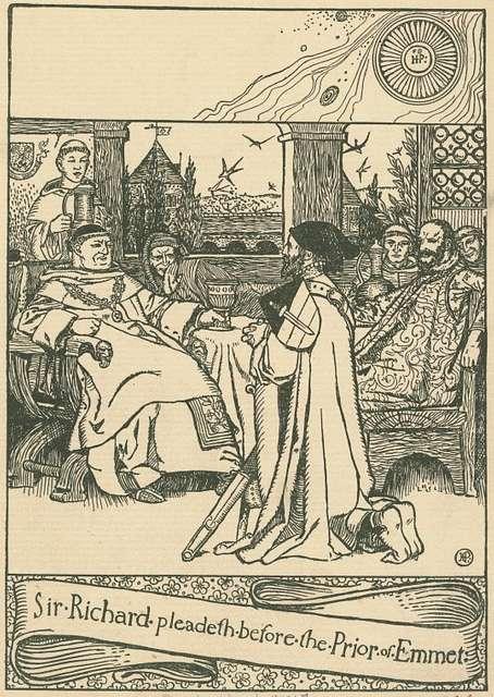 Sir Richard pleadeth before the Prior of Emmet.