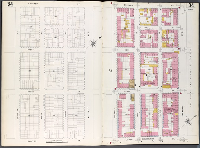 Brooklyn Plate No. 34 [Map bounded by Congress St., Columbia St., Atlantic Ave., Clinton St.]