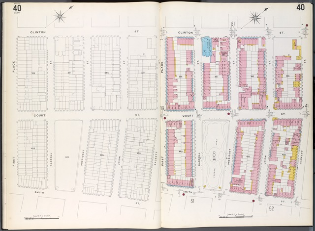 Brooklyn Plate No. 40 [Map bounded by 1st Place, Clinton St., Sackett St., Smith St.]