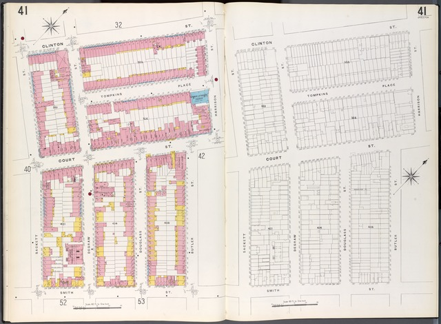 Brooklyn Plate No. 41 [Map bounded by Sackett St., Clinton St., Harrison St., Butler St., Smith St.]