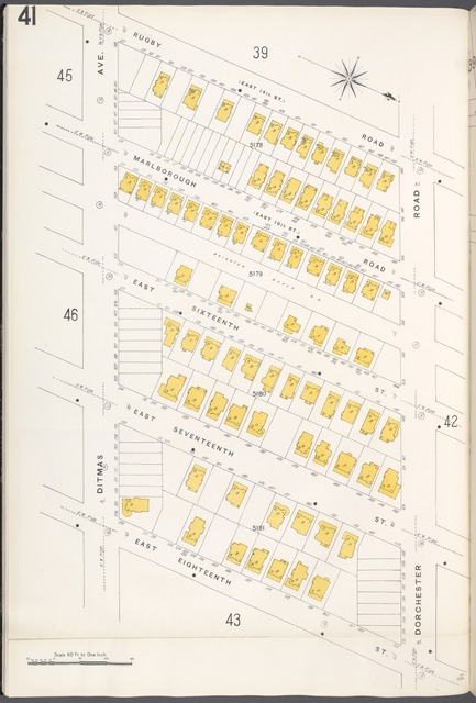 Brooklyn V. 10, Plate No. 41 [Map bounded by Rugby Rd., Dorchester Rd., E. 18th St., Ditmas Ave.]
