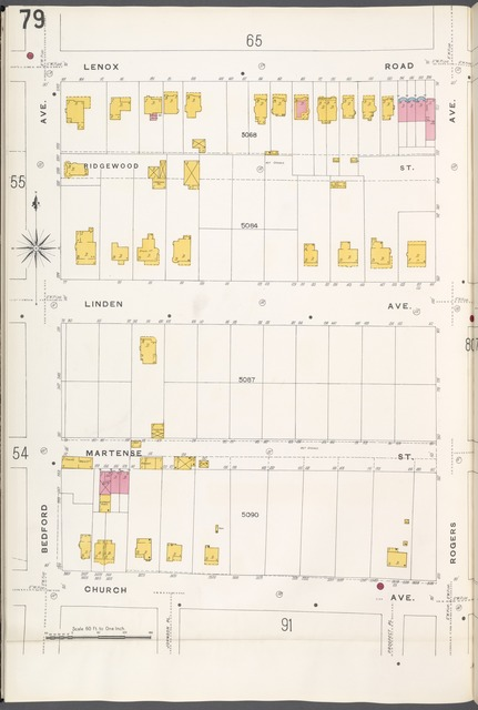 Brooklyn V. 10, Plate No. 79 [Map bounded by Lenox Rd., Rogers Ave., Church Ave., Bedford Ave.]