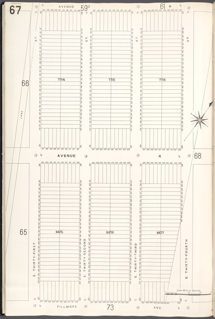 Brooklyn V. 15, Plate No. 67 [Map bounded by Avenue Q, E.34th St., Fillmore Ave., E.31st St.]