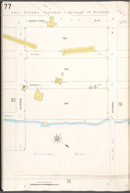 Brooklyn V. 15, Plate No. 77 [Map bounded by Gerritsen Ave., Avenue U, Avenue V]