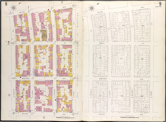 Brooklyn V. 3, Plate No. 9 [Map bounded by Wythe Ave., S.1st St., Driggs Ave., S.4th St.]