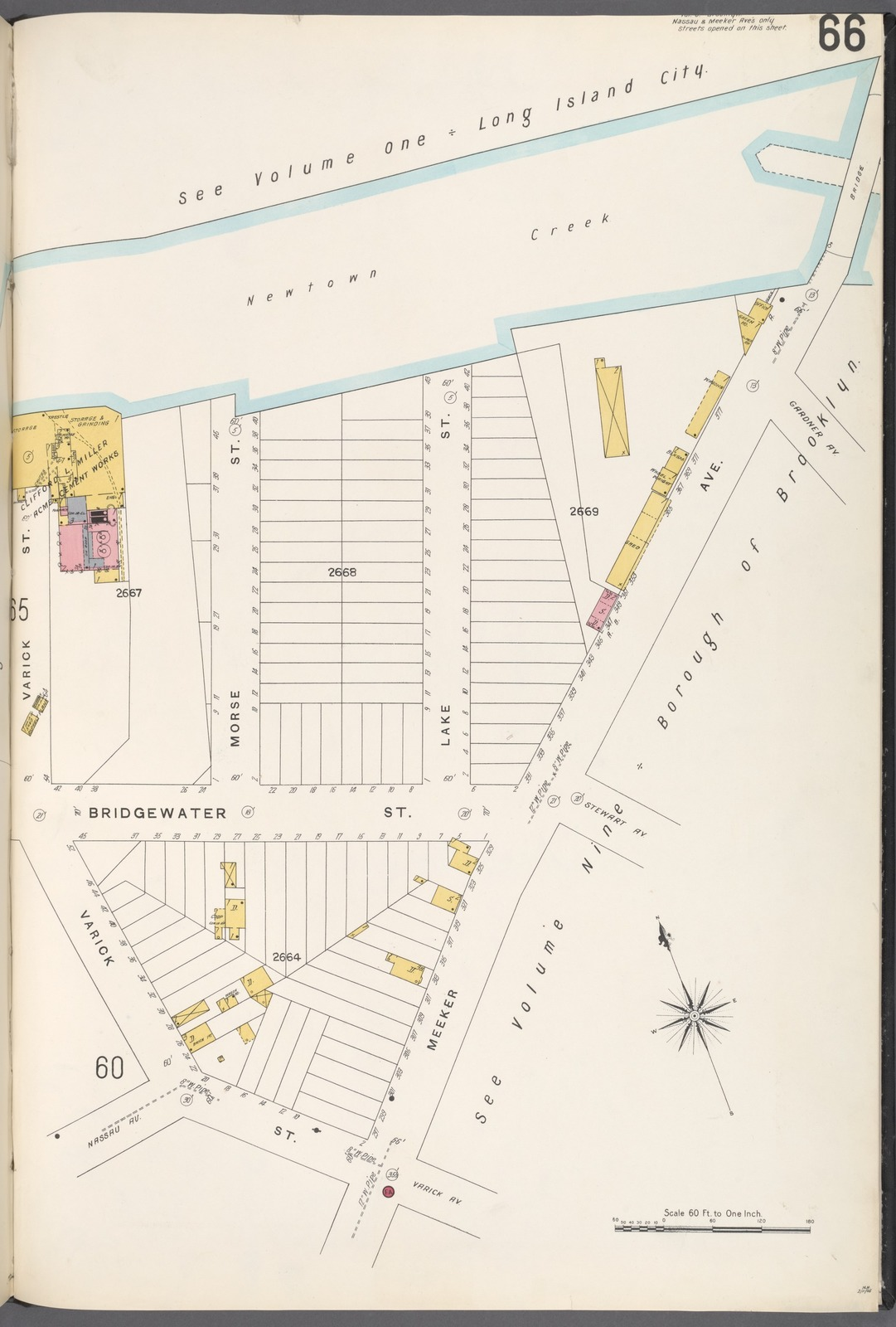 Brooklyn V. 4, Plate No. 66 [Map bounded by Newtown Creek, Meeker Ave., Varick St.]