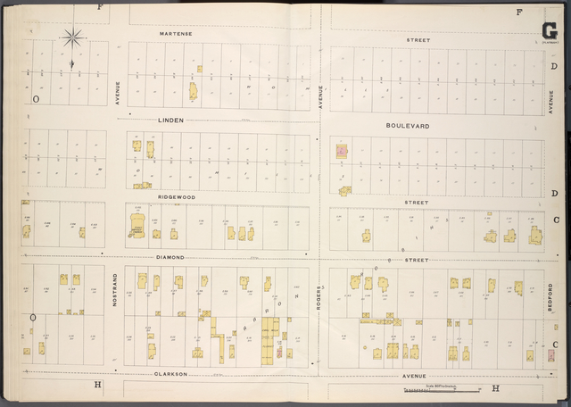Brooklyn, V. 7, Double Page Plate No. G [Map bounded by Martense St., Bedford Ave., Clarkson Ave.]