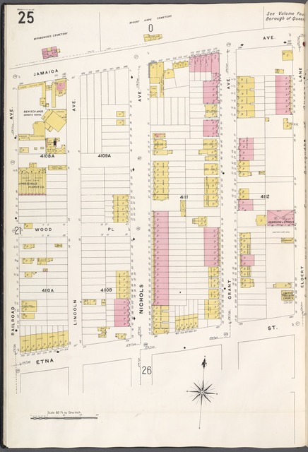 Brooklyn V. 8, Plate No. 25 [Map bounded by Jamaica Ave., Eldert Lane, Etna St., Railroad Ave.]