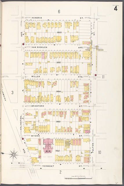 Brooklyn V. 8, Plate No. 4 [Map bounded by Hendrix St., Fulton St., Vermont St., Arlington Ave.]