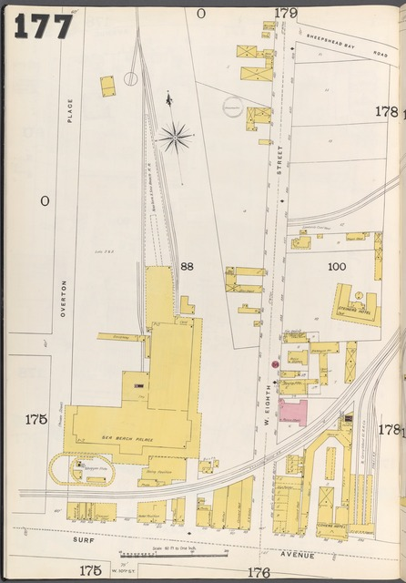 Brooklyn Vol. B Plate No. 177 [Map bounded by Overton Place, Surf Ave.]