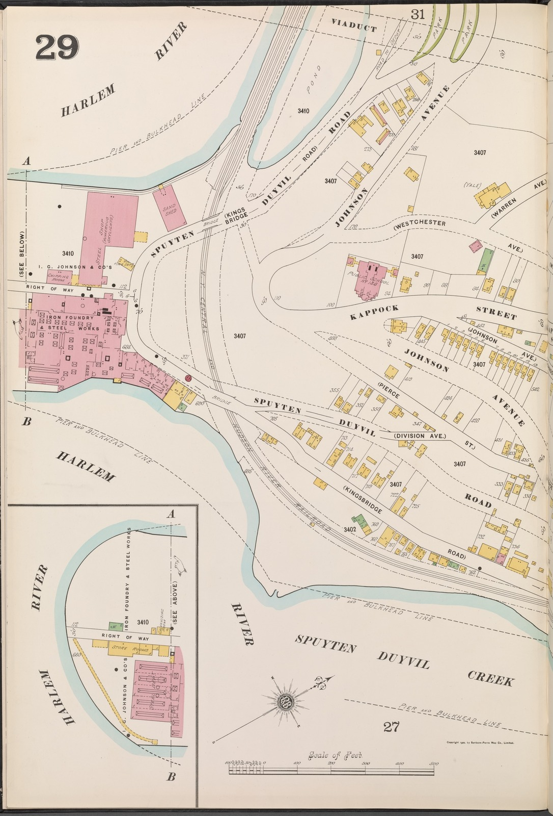 Manhattan, V. 12, Plate No. 29 [Map bounded by Harlem River, Spuyten Duyvil Creek]