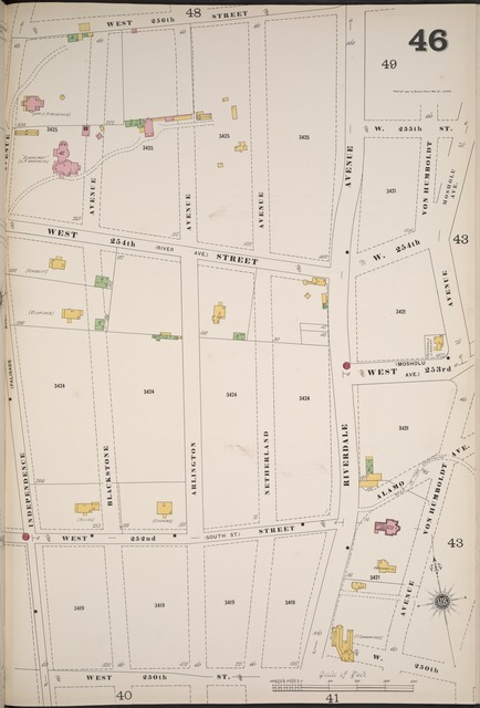 Manhattan, V. 12, Plate No. 46 [Map bounded by W. 256th St., W. 250th St., Independence Ave.]