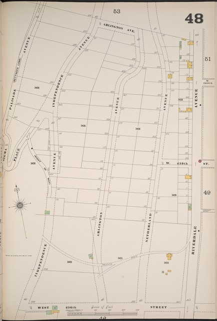 Manhattan, V. 12, Plate No. 48 [Map bounded by Arlington Ave., Riverdale Ave., W. 256th St., Independence Ave.]