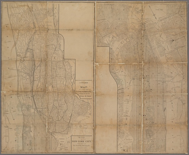 Map of New-York City / prepared expressly for the Trow City Directory Co. by Matthews, Northrup & Co.