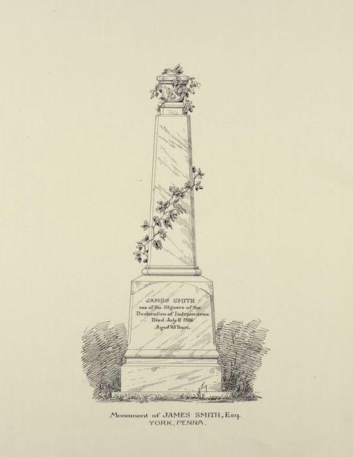 Monument of James Smith, Esq. York, Penna.