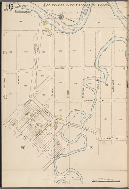 Queens V. 10, Plate No. 113 [Map bounded by Riverside Ave., Omega, 51st St., Westervelt]