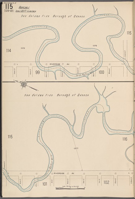 Queens V. 10, Plate No. 115 [Map bounded by Riverside Ave., Livingston St., De Koven St.]