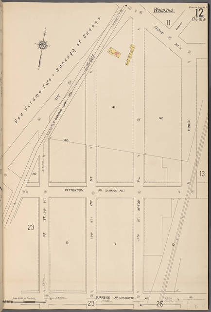 Queens V. 10, Plate No. 12 [Map bounded by 21st Ave., Grand Ave., Price, Burnside Ave., 1st St.]
