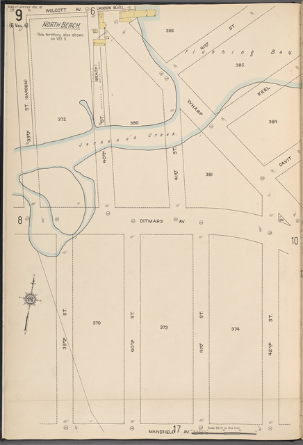 Queens V. 10, Plate No. 9 [Map bounded by Wolcott Ave., 42nd St., Mansfield Ave., 39th St.]