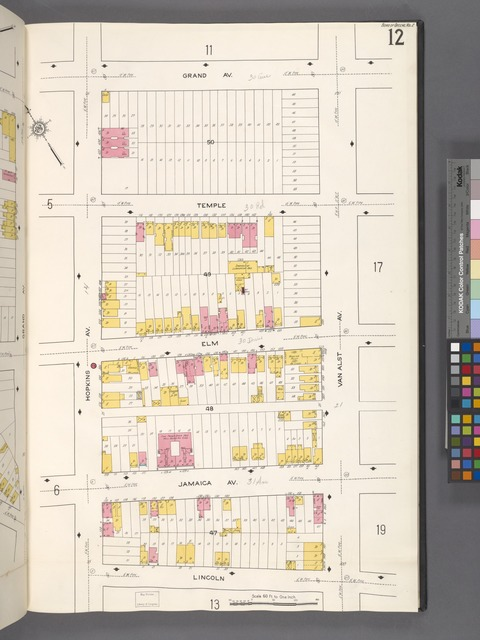Queens V. 2, Plate No. 12 [Map bounded by Grand Ave., Van Alst Ave., Lincoln, Hopkins Ave.]
