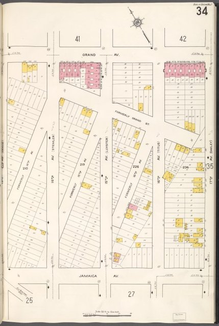 Queens V. 2, Plate No. 34 [Map bounded by Grand Ave., 17th Ave., Jamaica Ave., 13th Ave.]