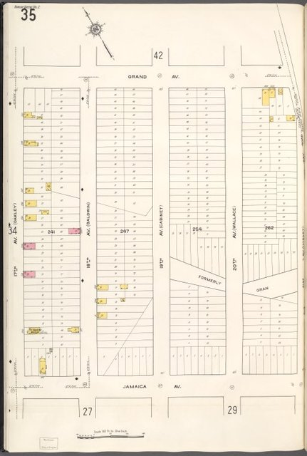 Queens V. 2, Plate No. 35 [Map bounded by Grand Ave., 21st Ave., Jamaica Ave., 17th Ave.]
