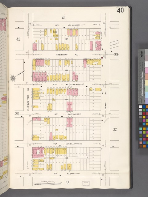 Queens V. 2, Plate No. 40 [Map bounded by 11th Ave., Grand Ave., 6th Ave., Vandeventer Ave.]