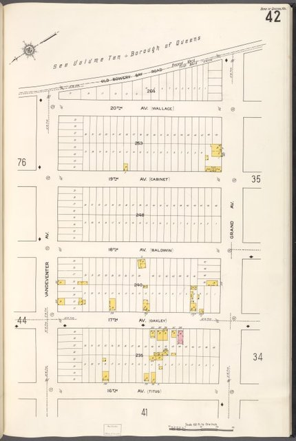 Queens V. 2, Plate No. 42 [Map bounded by Old Bowery Bay Rd., Grand Ave., 16th St., Vandeventer Ave.]