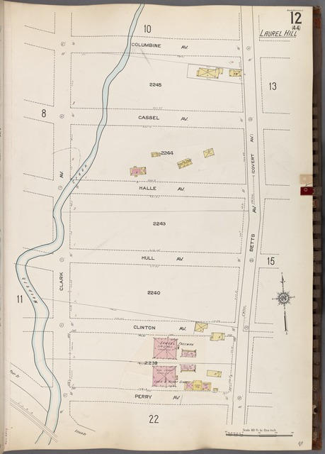 Queens V. 3, Plate No. 12 [Map bounded by Columbine Ave., Betts Ave., Perry Ave., Clark Ave.]