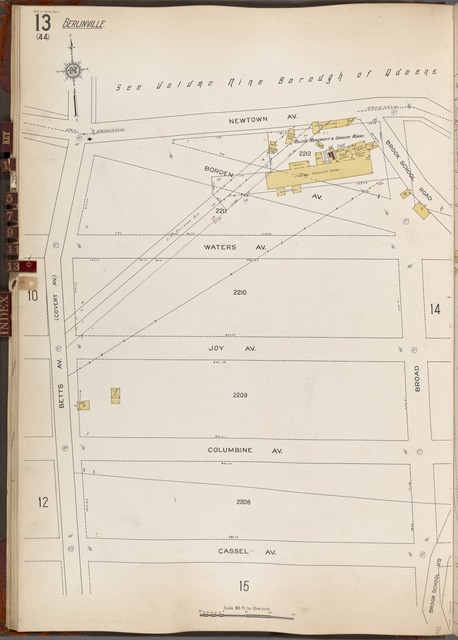 Queens V. 3, Plate No. 13 [Map bounded by Newtown Ave., Brook School Rd., Broad, Cassel Ave., Betts Ave.]