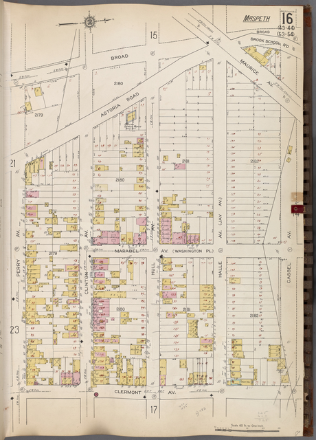 Queens V. 3, Plate No. 16 [Map bounded by Broad, Cassel Ave., Clermont Ave., Perry Ave.]