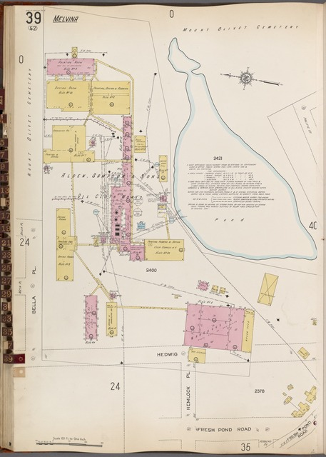 Queens V. 3, Plate No. 39 [Map bounded by Fresh Pond Rd., Bella Pl.]
