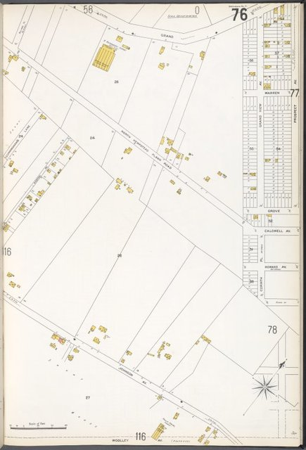 Queens V. 3, Plate No. 76 [Map bounded by Grand Ave., Prospect Ave., Johnson Ave., Cunningham's Ln.]