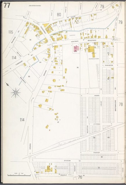 Queens V. 3, Plate No. 77 [Map bounded by Court, Bretonniere Ave., Prospect Ave., Grand Ave., Goldsmith, Maurice Ave.]