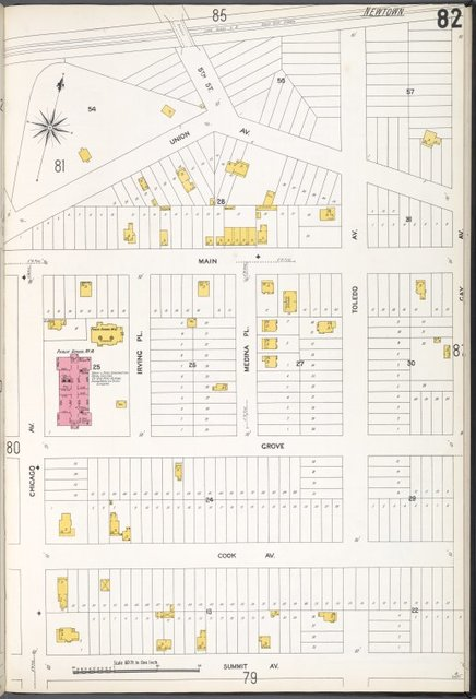 Queens V. 3, Plate No. 82 [Map bounded by Union Ave., Gay Ave., Summit Ave., Chicago Ave.]