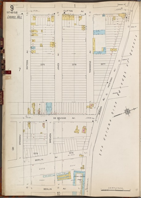Queens V. 3, Plate No. 9 [Map bounded by Clifton Ave., Borden Ave., Berlin Ave., Waters Ave.]