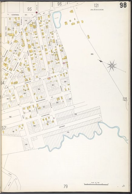 Queens V. 3, Plate No. 98 [Map bounded by Central Ave., Newins, Oxford, Buena Vista]