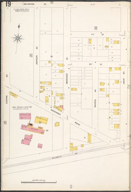 Queens V. 4, Plate No. 19 [Map bounded by Arlington Pl., Shaw Ave., Atlantic Ave., Centre Ave.]