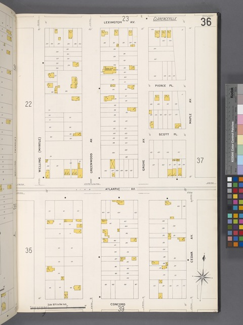 Queens V. 4, Plate No. 36 [Map bounded by Lexington Ave., Maple Ave., Concord, Welling]