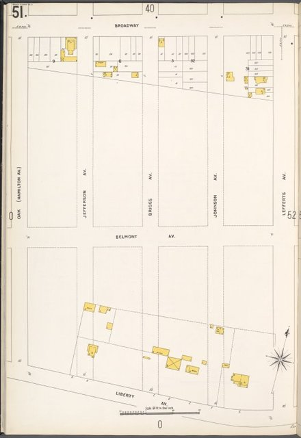 Queens V. 4, Plate No. 51 [Map bounded by Broadway, Lefferts Ave., Liberty Ave., Oak]
