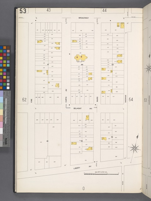 Queens V. 4, Plate No. 53 [Map bounded by Broadway, Sherman, Liberty Ave., Vine]