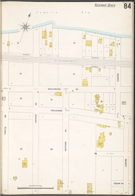 Queens V. 4, Plate No. 84 [Map bounded by Jamaica Bay, Centre, Ocean Ave., Thetis Ave.]