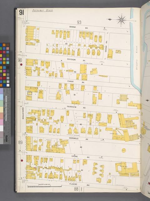Queens V. 4, Plate No. 91 [Map bounded by Dodge Ave., Atlantic Ocean, Eldert Ave., Boulevard]