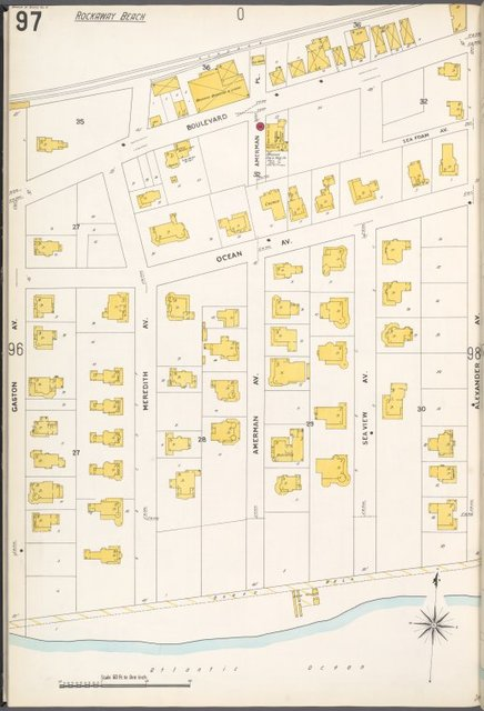 Queens V. 4, Plate No. 97 [Map bounded by Boulevard, Alexander Ave., Atlantic Ocean, Gaston Ave.]