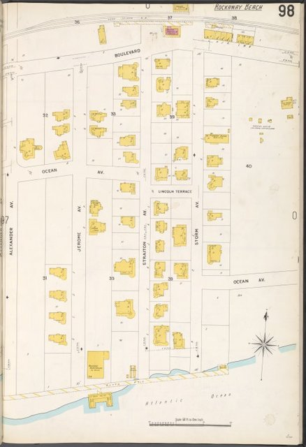 Queens V. 4, Plate No. 98 [Map bounded by Boulevard, Storm Ave., Atlantic Ocean, Alexander Ave.]