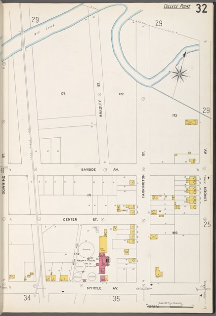 Queens V. 5, Plate No. 32 [Map bounded by Mill Creek, Linden Ave., Myrtle Ave., Downing St.]