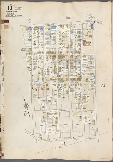 Queens V. 6, Plate No. 101 [Map bounded by Rockaway Blvd., Three Mill Rd., 135th Ave., Inwood]