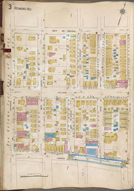 Queens V. 6, Plate No. 3 [Map bounded by 85th Ave., 123rd St., Jamaica Ave., Lefferts Blvd.]