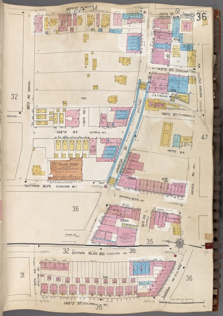 Queens V. 6, Plate No. 36 [Map bounded by 150th St., Archer Ave., Jamaica Ave., 146th St., 90th Ave.]