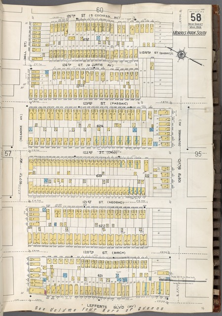 Queens V. 6, Plate No. 58 [Map bounded by 125th St., 109th Blvd., Lefferts Blvd., 107th Ave.]